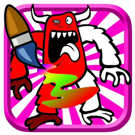 Super Hero Monster Coloring Book Game For Kids iOS App