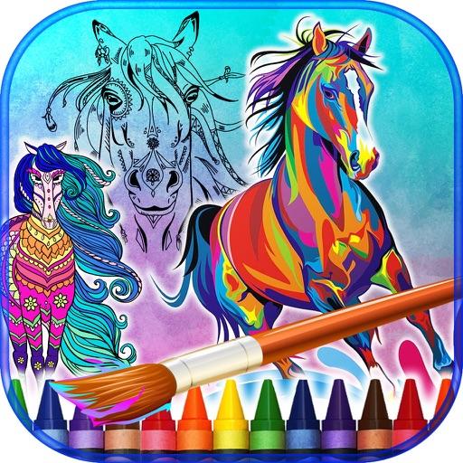 Mandalas Coloring of Ponies and Horses iOS App