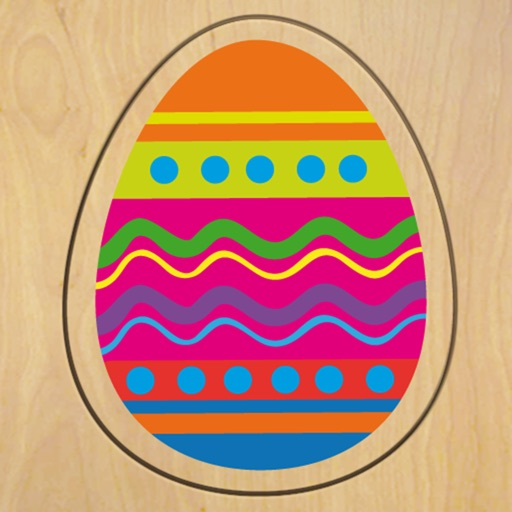 Wood Puzzle Easter Colors HD iOS App