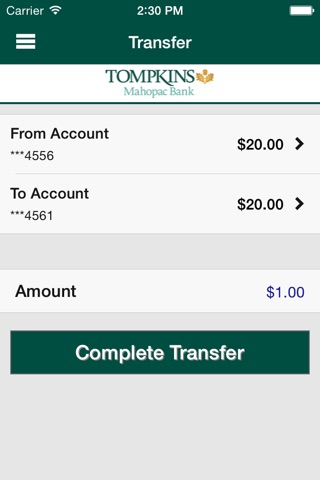 Mahopac Bank Banking App screenshot 2