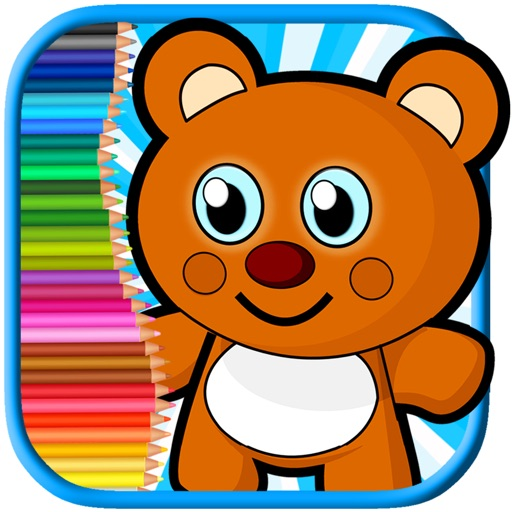 My Little Bear And Friend Coloring Book Fun Game iOS App