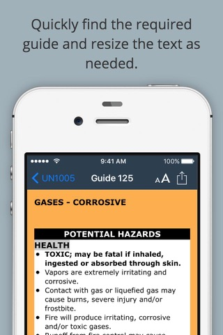HazMat Reference and Emergency Response Guide screenshot 3