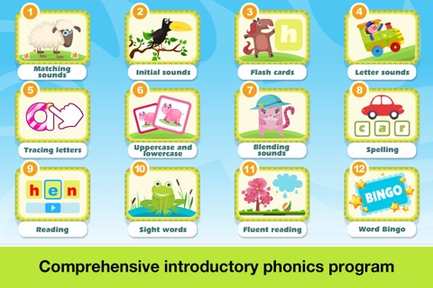 Phonics Fun on Farm Educational Learn to Read App screenshot 2