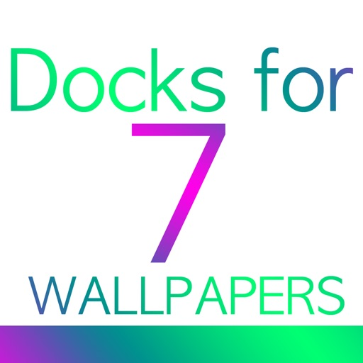 Docks for 7 Wallpapers - Dock and Status bar color wallpaper overlays iOS App