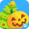寶寶拼圖:節日 - 認知春節、聖誕節中外節日的熊大叔兒童教育遊戲