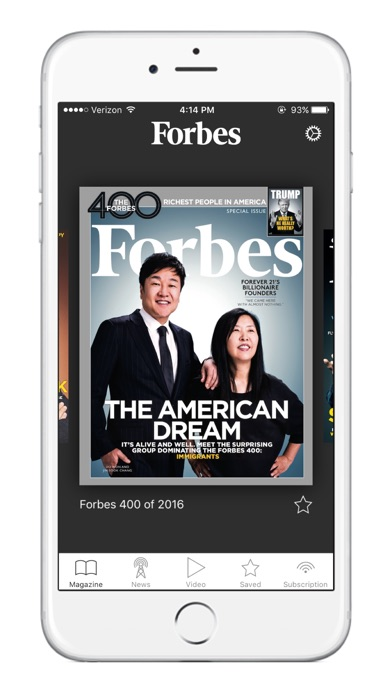 Screenshot 0 for Forbes's iPhone app'