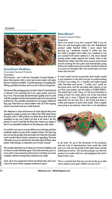 Edibles List Magazine review screenshots