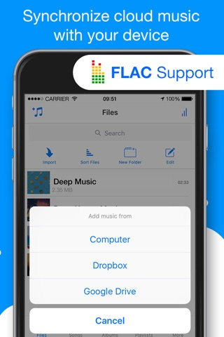 Musicloud - MP3 and FLAC Music Player for Clouds screenshot 3