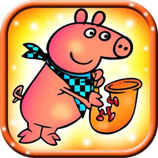 Coloring Fun popper pig pop iOS App