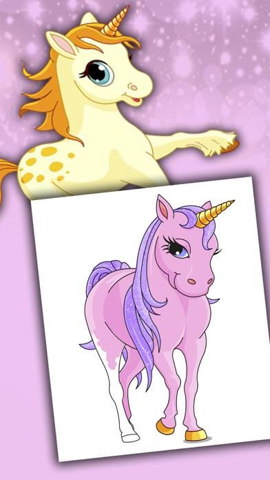 Licornes dessins à peindre et livre à colorierCapture d'écran de 2