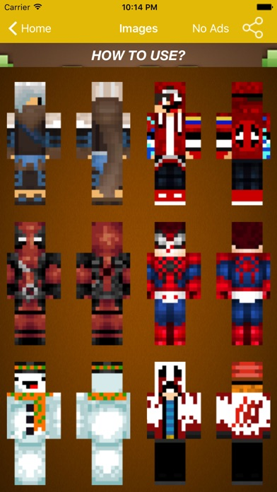 Screenshots of Skin For Minecraft Pocket For Deadpool Fans for iPhone