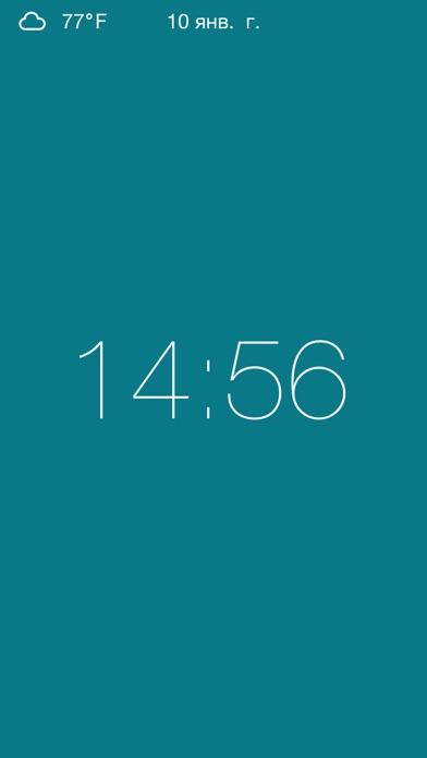 Clock - Modern deskclock with nightstand modeСкриншоты 3