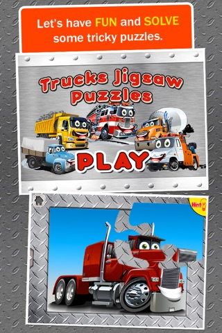 Trucks Jigsaw Puzzles: Kids Trucks Cartoon Puzzles screenshot 1