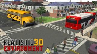 スクールバスの運転-市ドライバーはドロップキッズピック&しますのスクリーンショット1