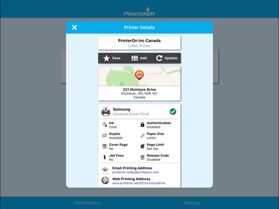PrinterOn for MobileIron Скриншоты10