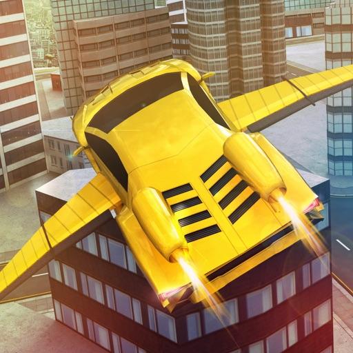 Free Sports Flying Racing Car Simulator iOS App