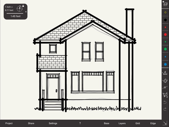 Architectural Drawing Scale arrette sketch – draw and design at scale on the app store