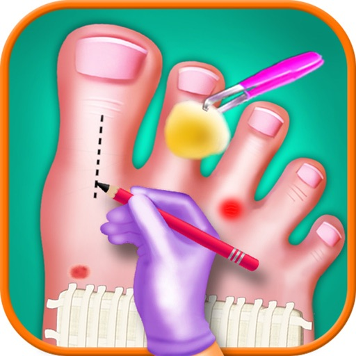 Toe Nail Surgery Doctor - free kids games for fun iOS App