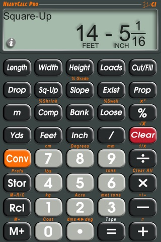 HeavyCalc Pro Feet Inch Cubic Yard Calculator screenshot 2