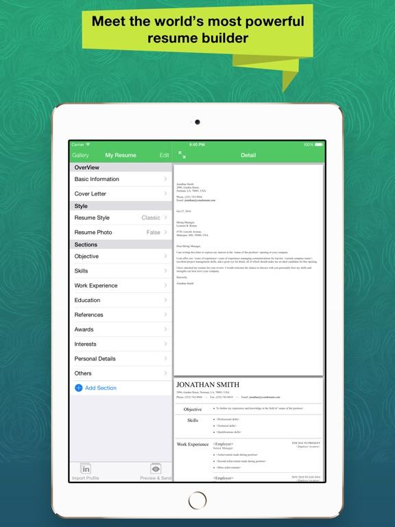 resume apex pro professional cv maker builder 在 app