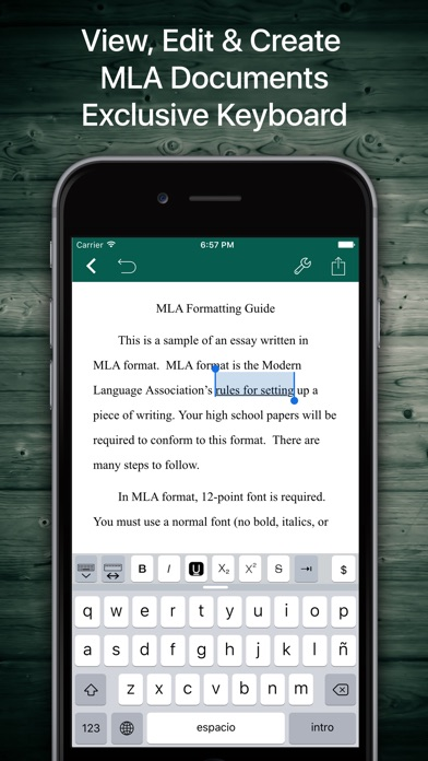 how to set up mla format