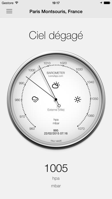 Screenshot Baromètre - Pression atmosphérique