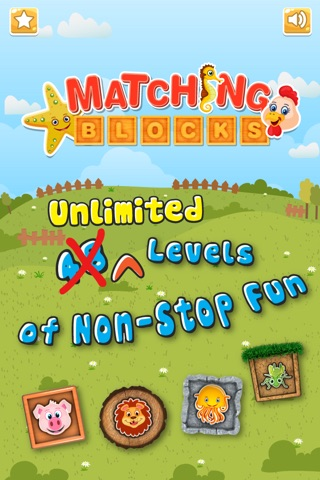 Animals Matching Blocks for Kids Pro screenshot 1