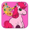 Drawing Little Baby Pony Coloring Page Game Kids