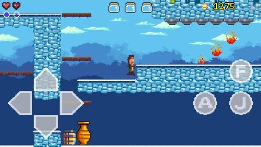 Goku to hell free - Pixel style side-scroller game Screenshot