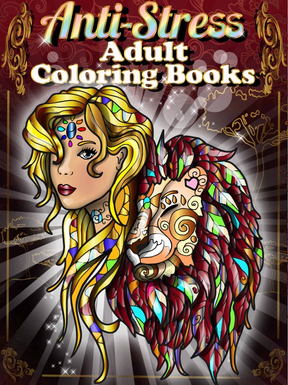 Adult Coloring Books Anti Stress Cats Pages Games On The App Store