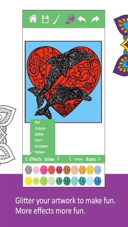 Adult Coloring Drawing Book Color Therapy Pages Screenshot 2