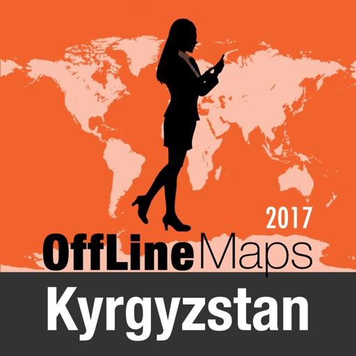 Kirghizistan Mappa Offline e Guida Turistica