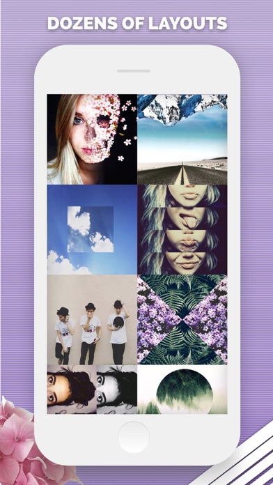 Screenshots of Split Pic - Photo Editor & Layout Collage Maker for iPhone