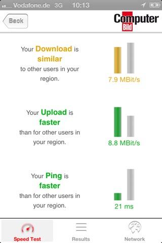 COMPUTER BILD Netztest screenshot 2