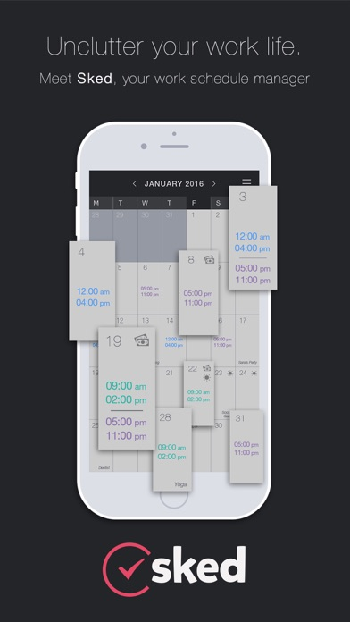 Shift Work Schedule & Calendar Job Manager: Sked on the App Store