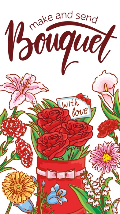 Make Bouquet! stickers for iMessageСкриншоты 1