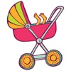 Baby Stuff Icons New Mom Sticker Pack