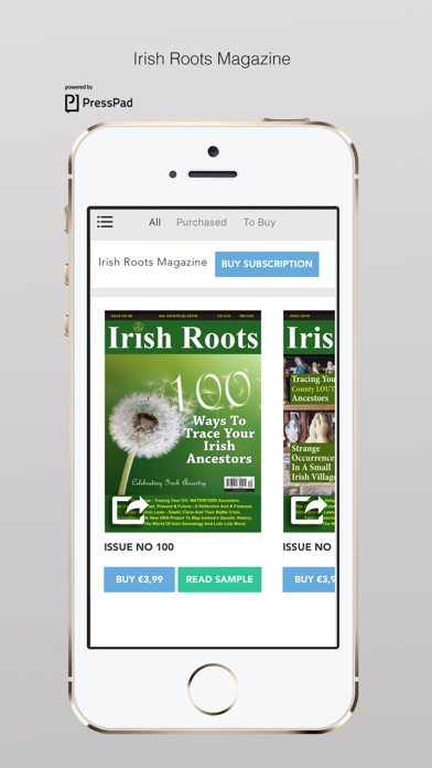Irish Roots Magazine review screenshots