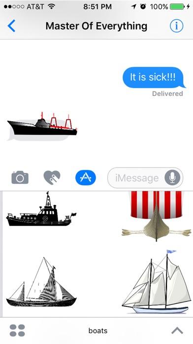 Лодки - плавучий Суд море НаклейкиСкриншоты 3