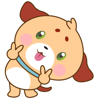 download Woofie, the cute little puppy for iMessage Sticker
