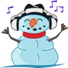Snowman stickers by Jo for iMessage Wiki