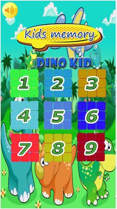 Kids Memory dino kid Screenshot on iOS