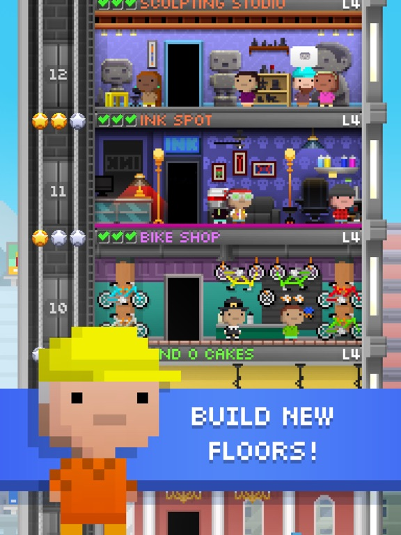 tiny tower free city building on the app store