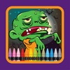 Game for Family Coloring Zombie Drawing zombie