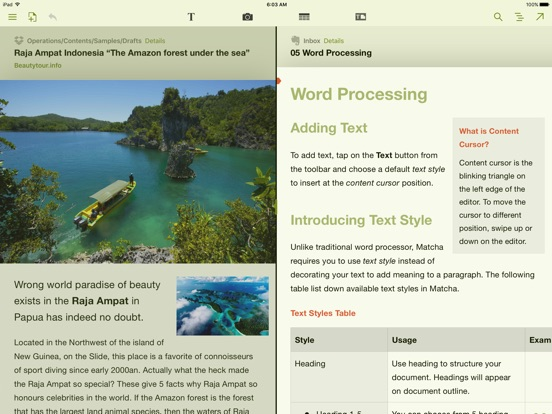 Matcha Word Processor: Create Document & Take Note Screenshot