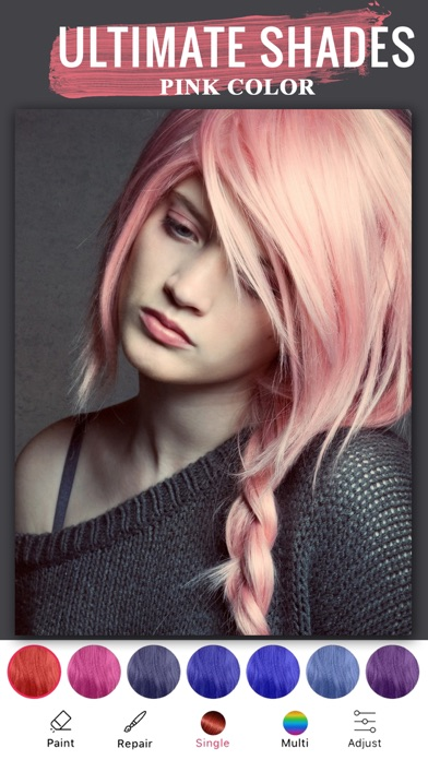 Приложение для смены цвета волос для айфон