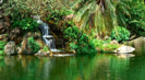 Relax at the Spa - Gentle Waterfall In Tropical Surroundings With Music for Relaxing and Meditation